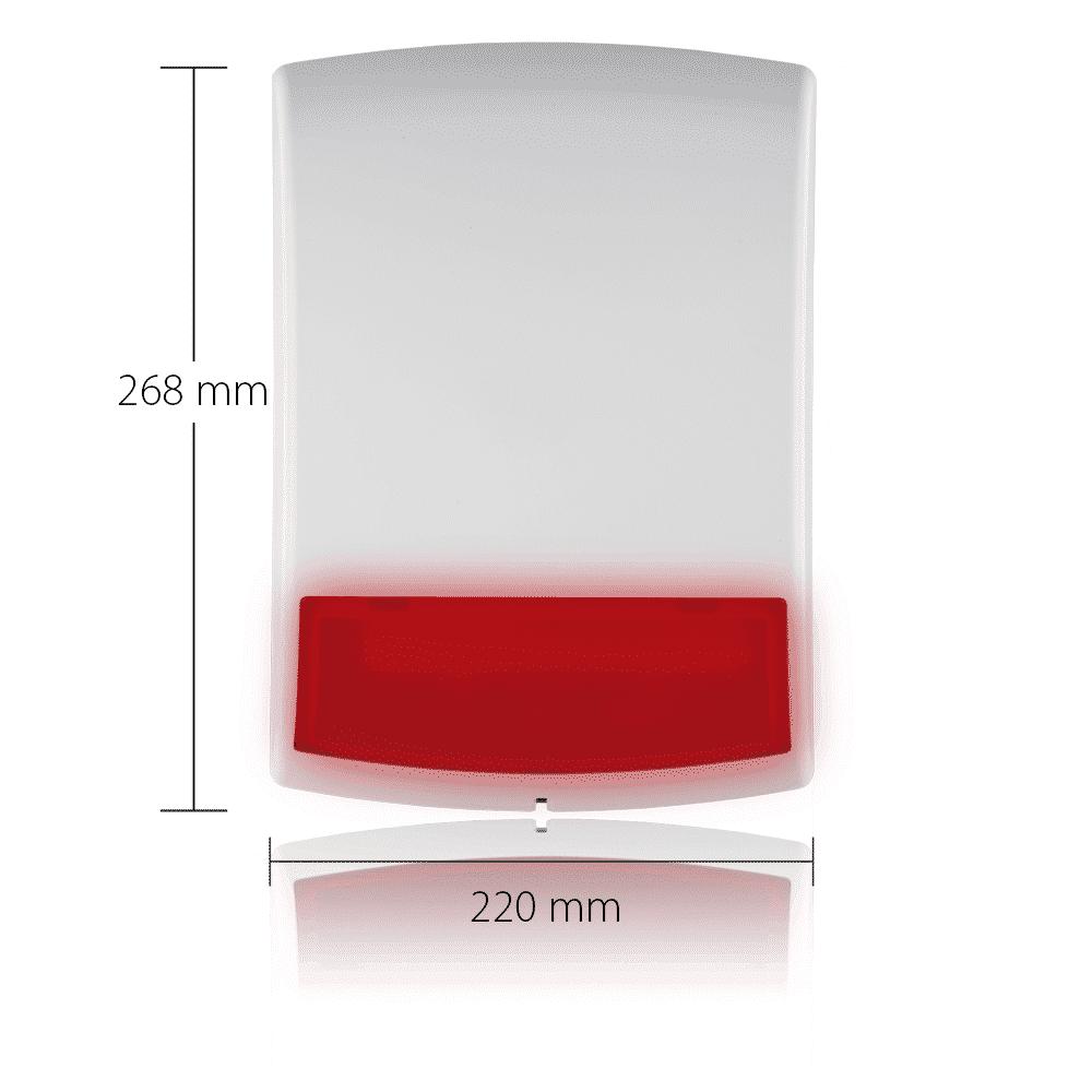 Blaupunkt Funk-Außensirene BX-S1 mit Maßen