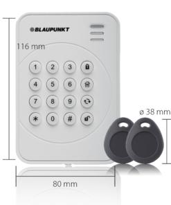 Blaupunkt Funk-Bedienteil KPT-R1 mit Maßen