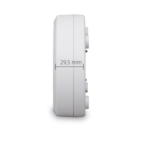 Blaupunkt Funk-Wassermelder WS-S1 Seitenansicht mit Maße