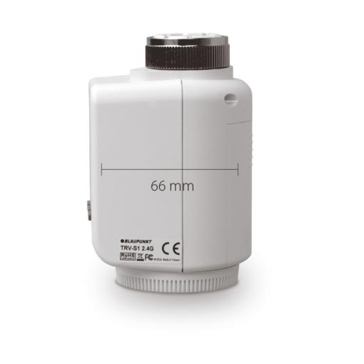 Blaupunkt Smart Home Thermostat TRV-S1 Seitenansicht mit Maßen