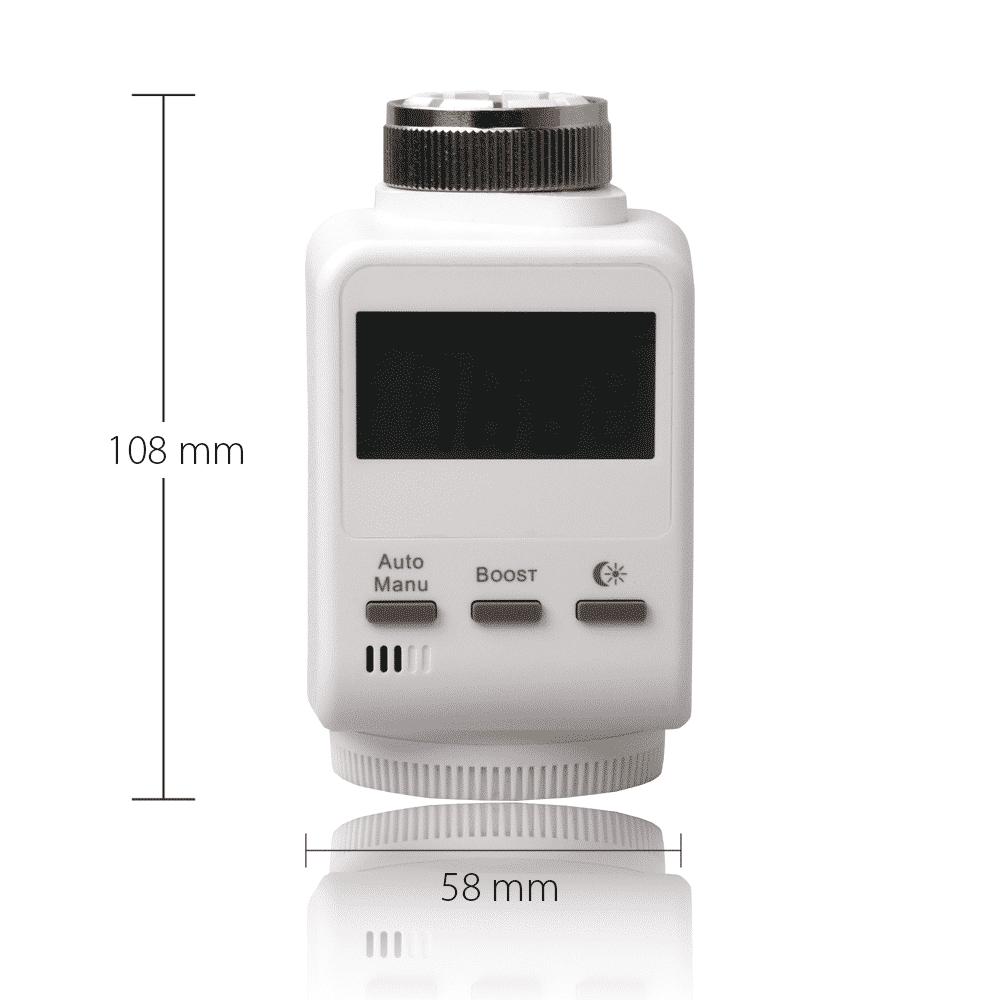 Blaupunkt Smart Home Thermostat mit Maßen