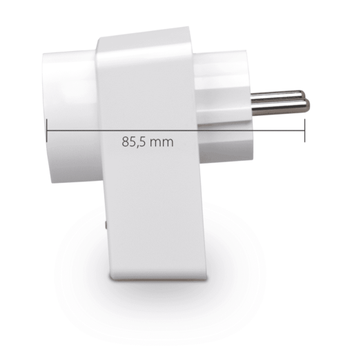 Blaupunkt Smart Home Zwischenstecker PSM-S1 Seitenansicht mit Maßen