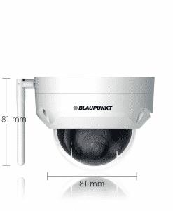 Blaupunkt Videoüberwachung VIO-DP20 für den Außenbereich mit Maßen